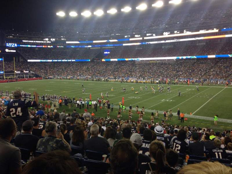 Seating view for Gillette Stadium Section 104 Row 34 Seat 3