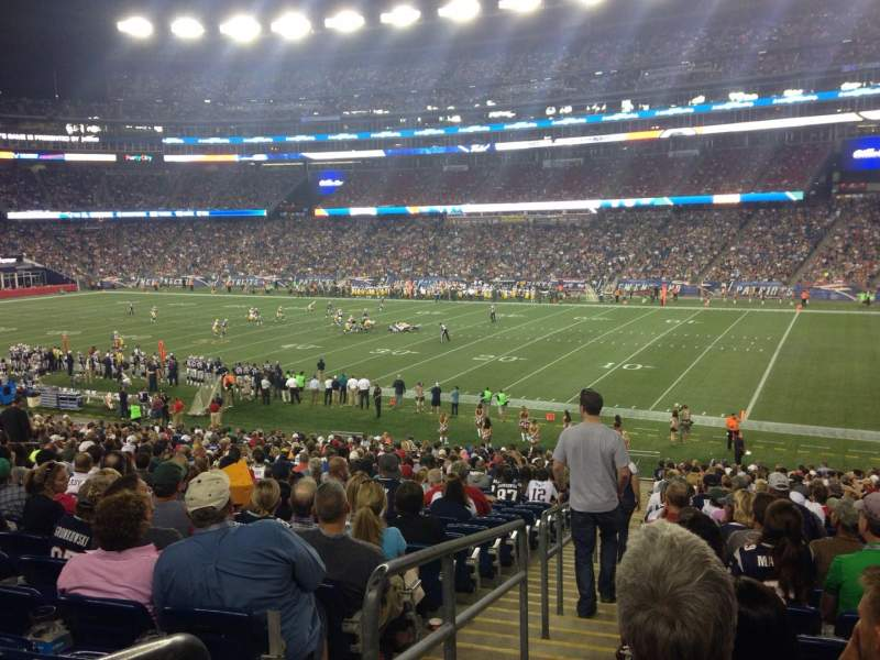 Seating view for Gillette Stadium Section 105 Row 34 Seat 16