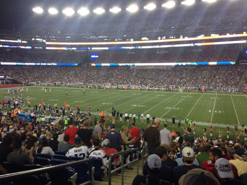 Seating view for Gillette Stadium Section 106 Row 32 Seat 21