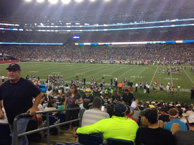Seating view for Gillette Stadium Section 107 Row 26 Seat 20