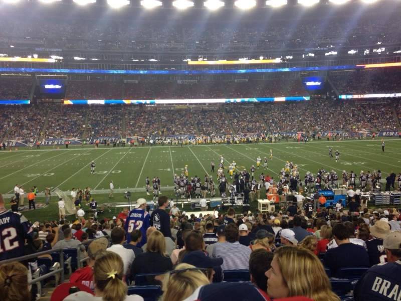 Seating view for Gillette Stadium Section 110 Row 27 Seat 20