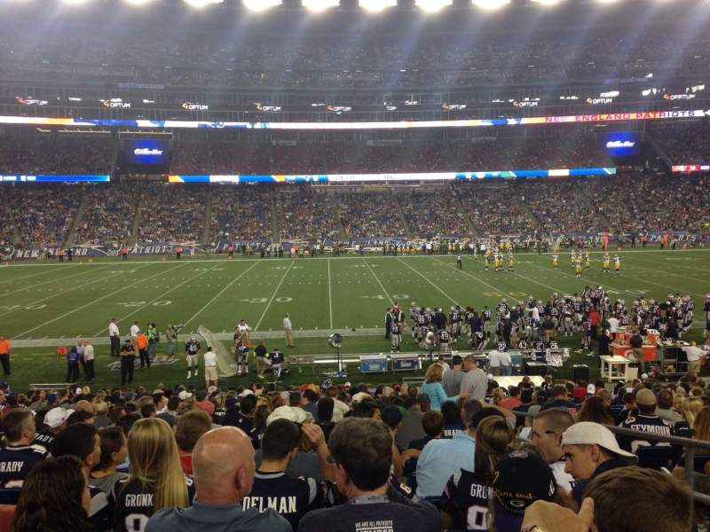 Seating view for Gillette Stadium Section 111 Row 23 Seat 3