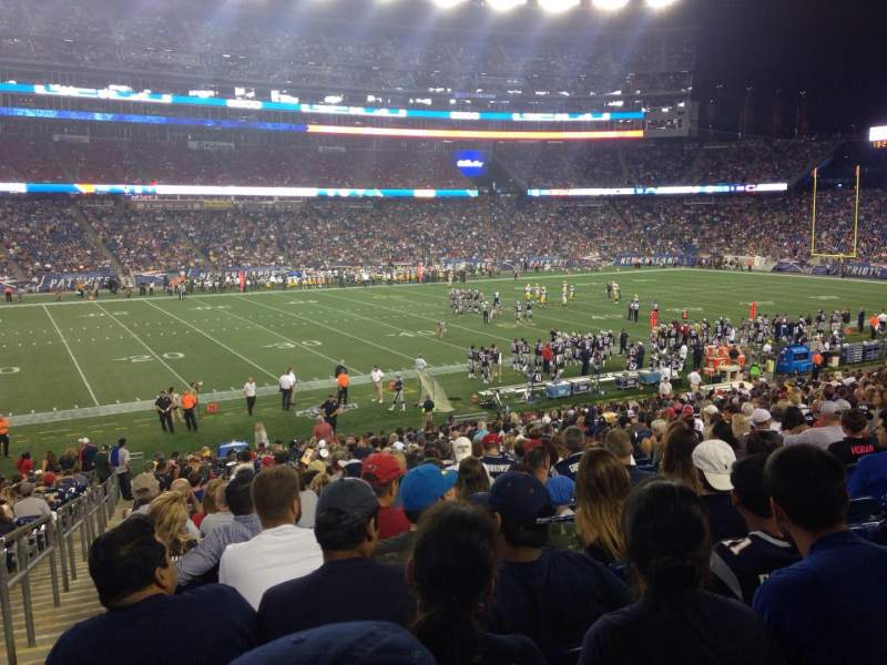 Seating view for Gillette Stadium Section 112 Row 30 Seat 22