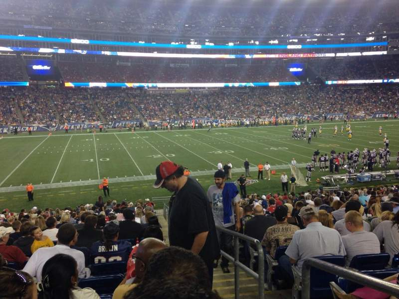 Seating view for Gillette Stadium Section 113 Row 27 Seat 1