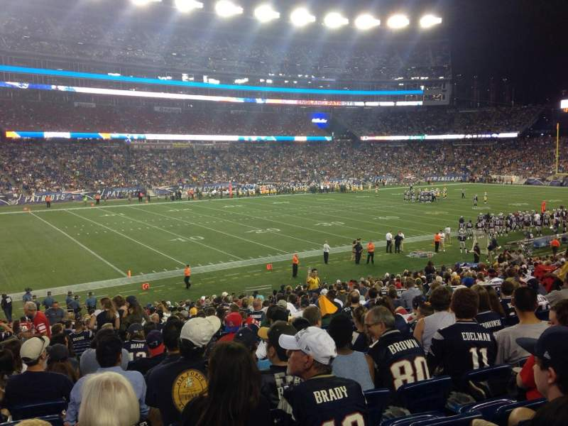 Seating view for Gillette Stadium Section 114 Row 28 Seat 15