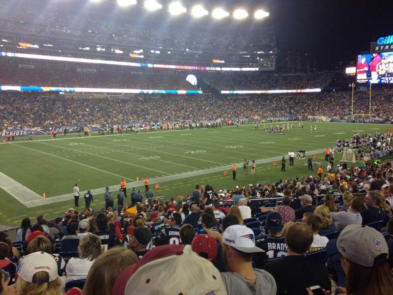 Seating view for Gillette Stadium Section 115 Row 26 Seat 15