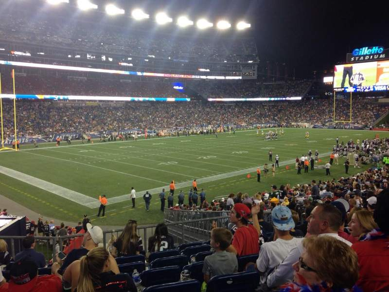 Seating view for Gillette Stadium Section 116 Row 28 Seat 7