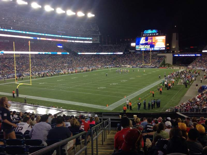 Seating view for Gillette Stadium Section 117 Row 33 Seat 25