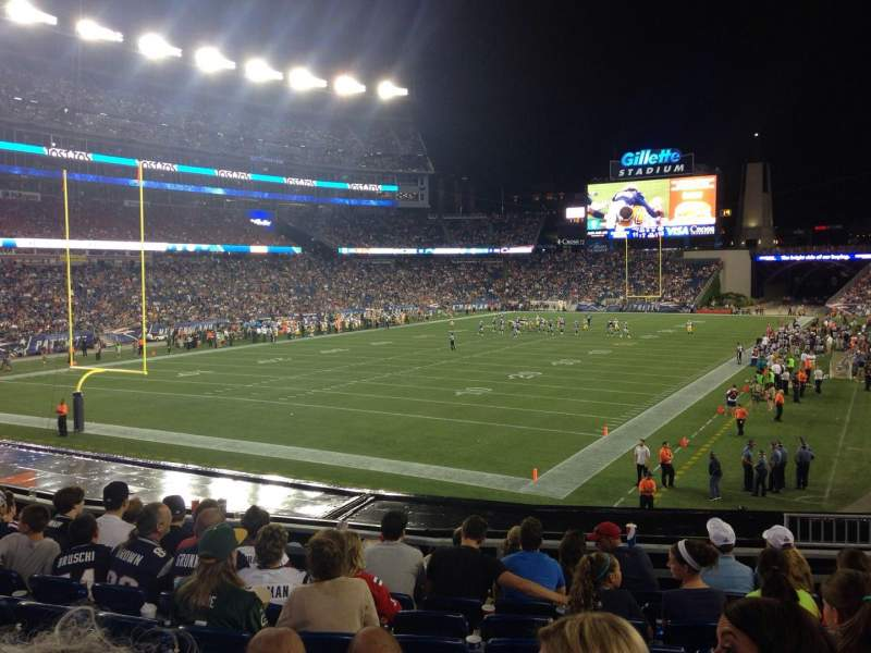 Seating view for Gillette Stadium Section 118 Row 26 Seat 5