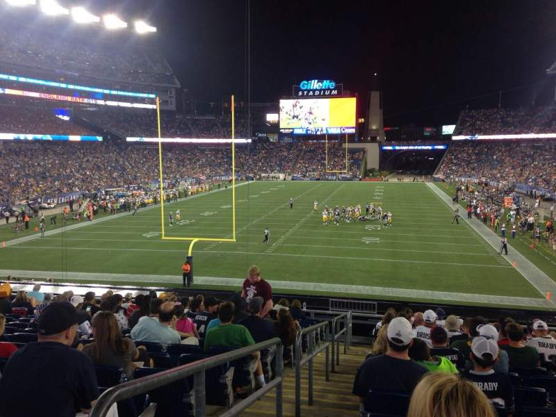 Seating view for Gillette Stadium Section 119 Row 22 Seat 24