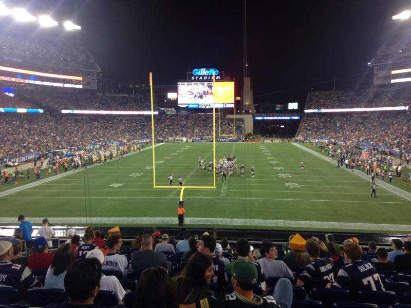 Seating view for Gillette Stadium Section 120 Row 31 Seat 15