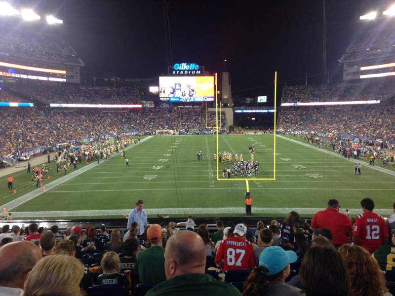 Seating view for Gillette Stadium Section 121 Row 33 Seat 8