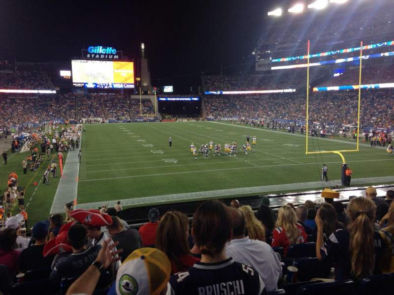Seating view for Gillette Stadium Section 122 Row 26 Seat 20