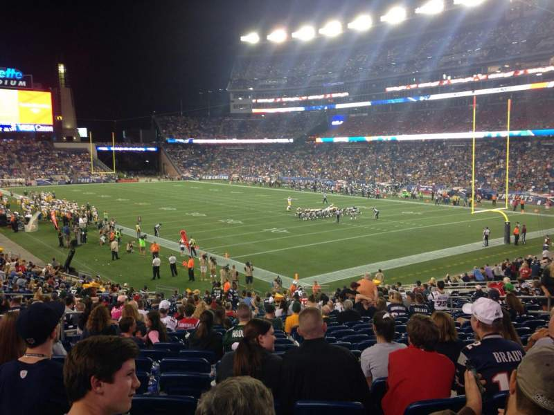 Seating view for Gillette Stadium Section 124 Row 29 Seat 15