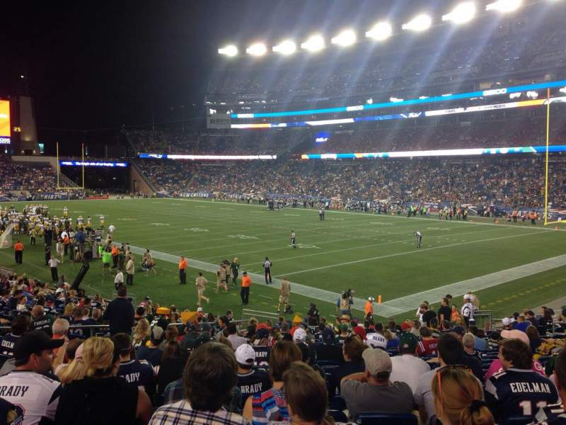 Seating view for Gillette Stadium Section 125 Row 21 Seat 4