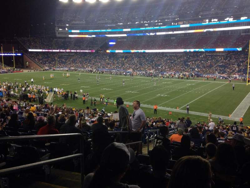 Seating view for Gillette Stadium Section 126 Row 36 Seat 24