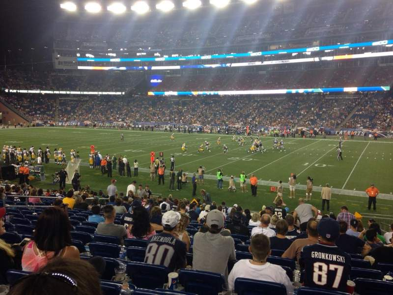 Seating view for Gillette Stadium Section 128 Row 21 Seat 5