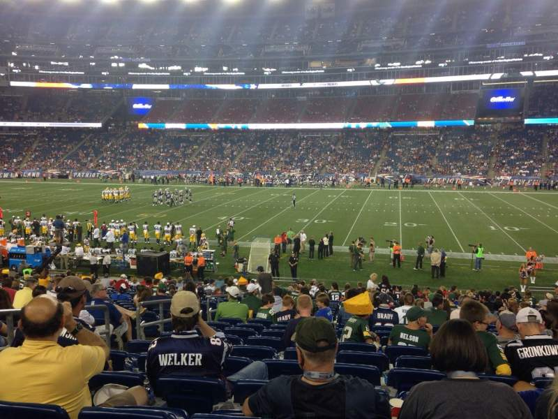 Seating view for Gillette Stadium Section 129 Row 25 Seat 18
