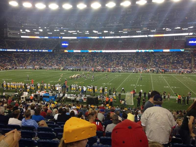 Seating view for Gillette Stadium Section 130 Row 28 Seat 5