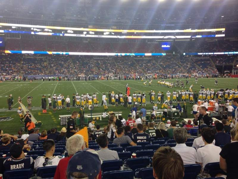 Seating view for Gillette Stadium Section 133 Row 15 Seat 8