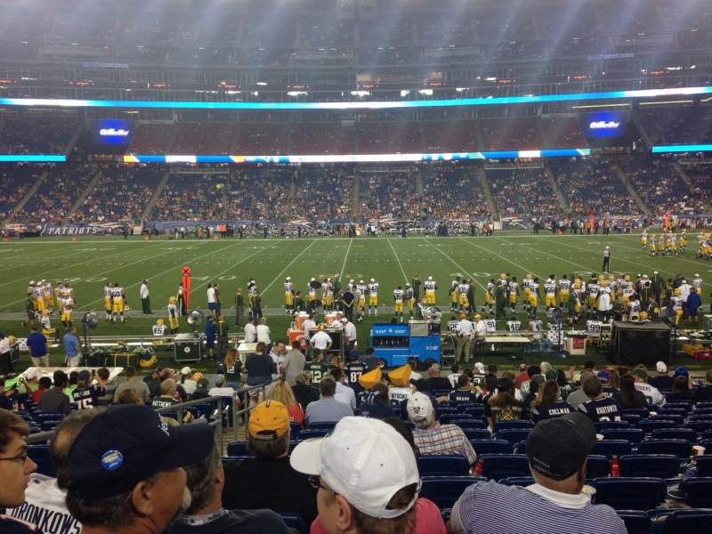 Seating view for Gillette Stadium Section 131 Row 18 Seat 19