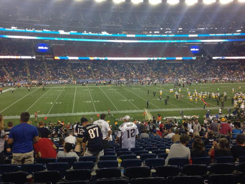 Seating view for Gillette Stadium Section 134 Row 32 Seat 11
