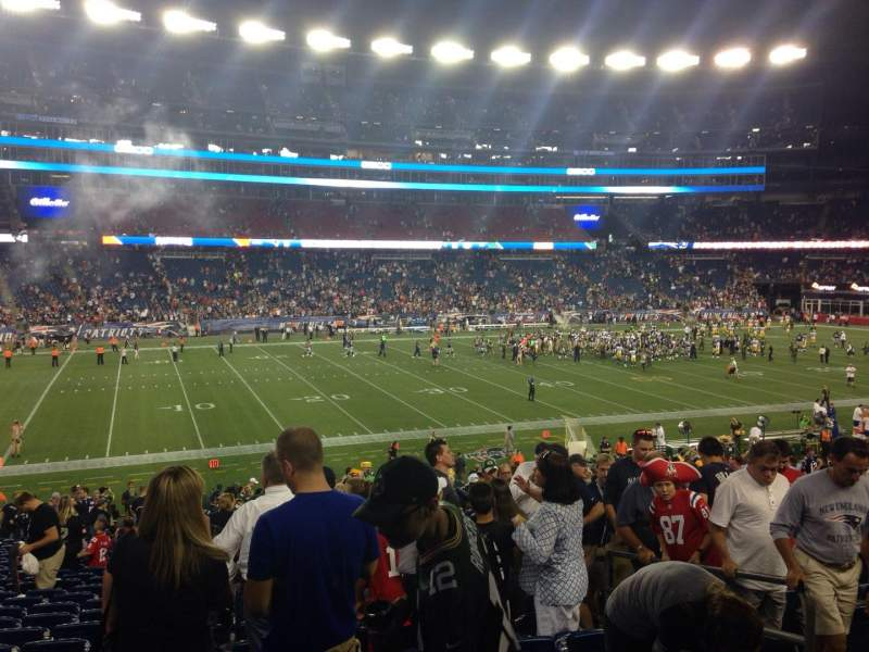 Seating view for Gillette Stadium Section 135 Row 32 Seat 5