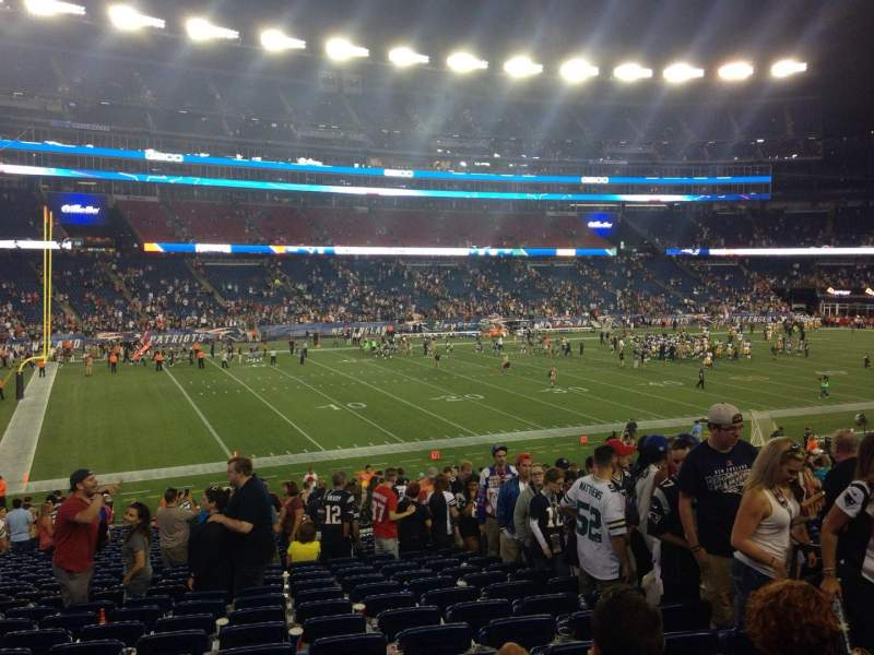 Seating view for Gillette Stadium Section 136 Row 32 Seat 6