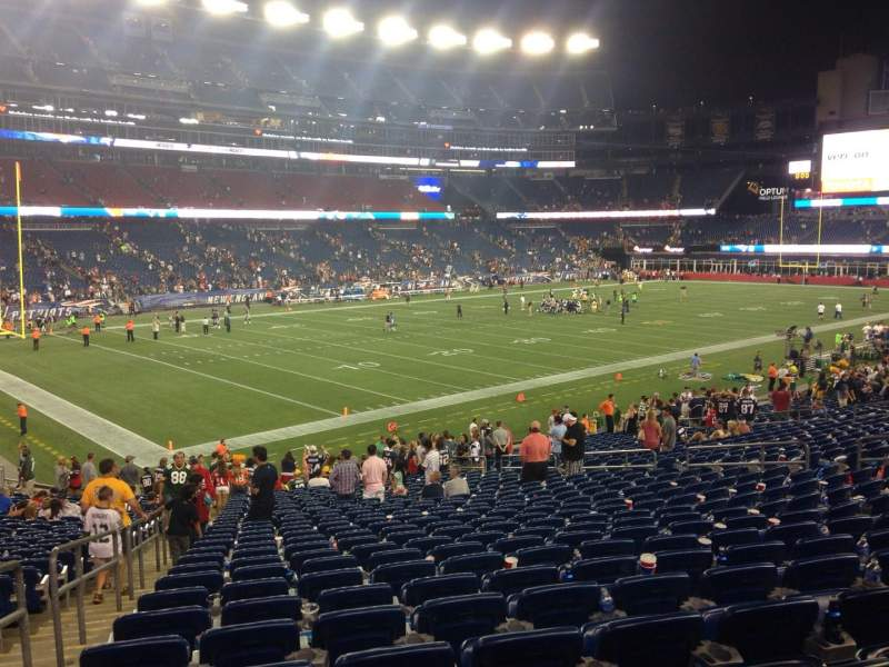 Seating view for Gillette Stadium Section 137 Row 31 Seat 20