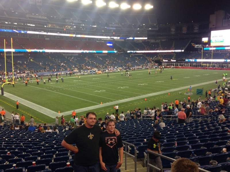 Seating view for Gillette Stadium Section 138 Row 30 Seat 3