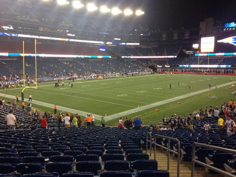 Seating view for Gillette Stadium Section 139 Row 29 Seat 2