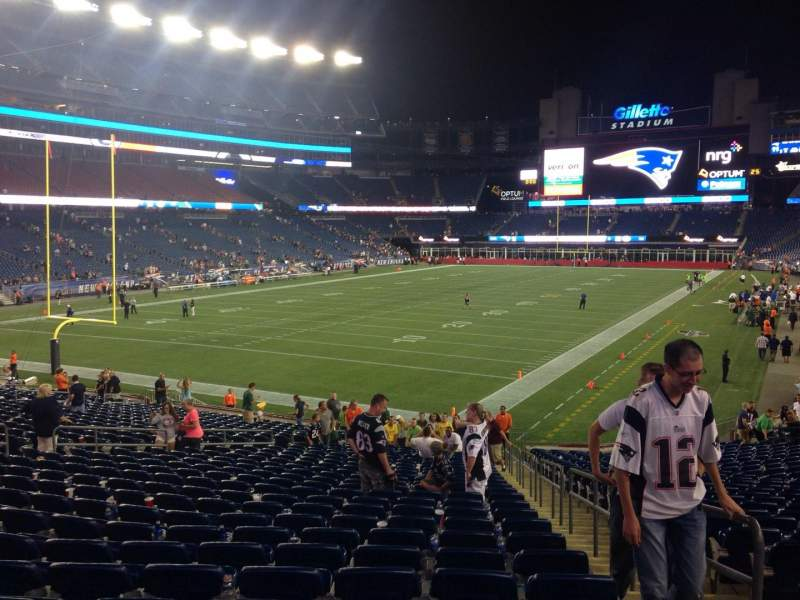 Seating view for Gillette Stadium Section 140 Row 28 Seat 2