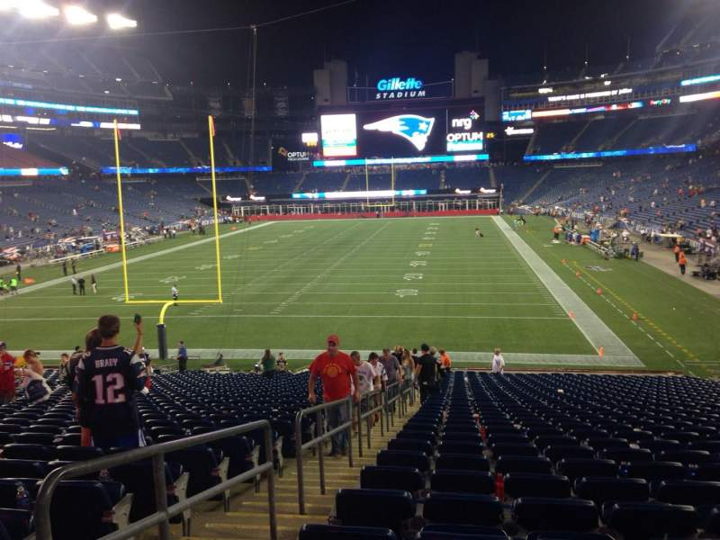 Seating view for Gillette Stadium Section 141 Row 34 Seat 19