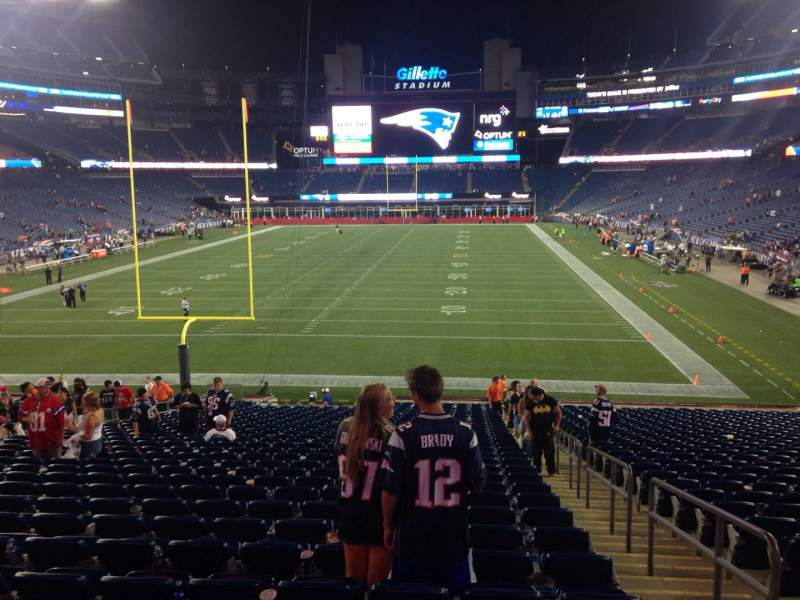 Seating view for Gillette Stadium Section 142 Row 32 Seat 2