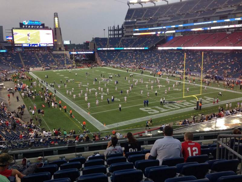 Seating view for Gillette Stadium Section 223 Row 8 Seat 10