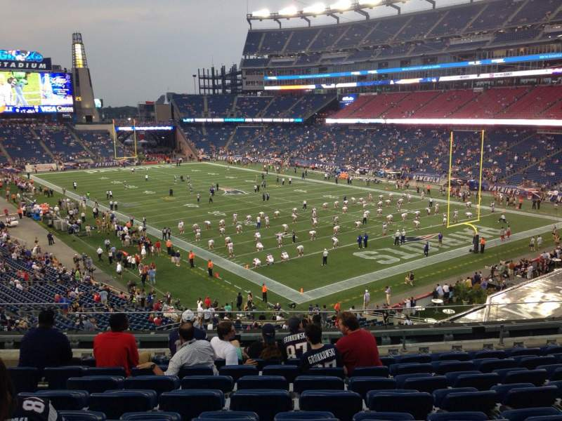 Seating view for Gillette Stadium Section 224 Row 9 Seat 12
