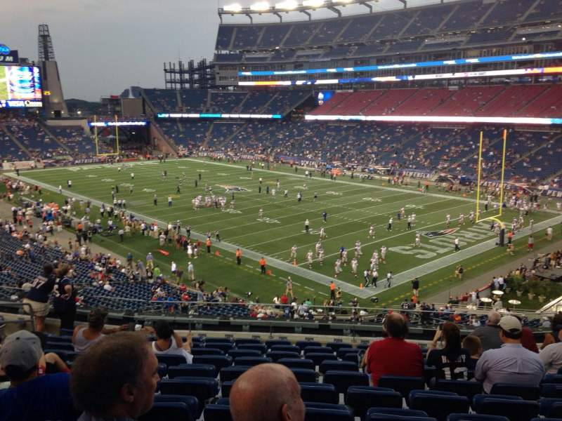 Seating view for Gillette Stadium Section 225 Row 11 Seat 11