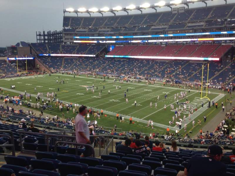Seating view for Gillette Stadium Section 226 Row 15 Seat 15