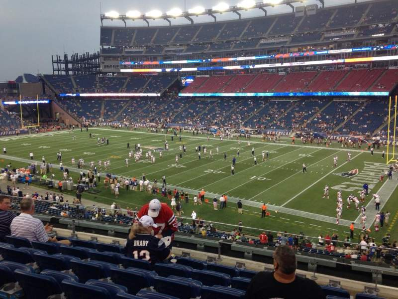 Seating view for Gillette Stadium Section 227 Row 7 Seat 7