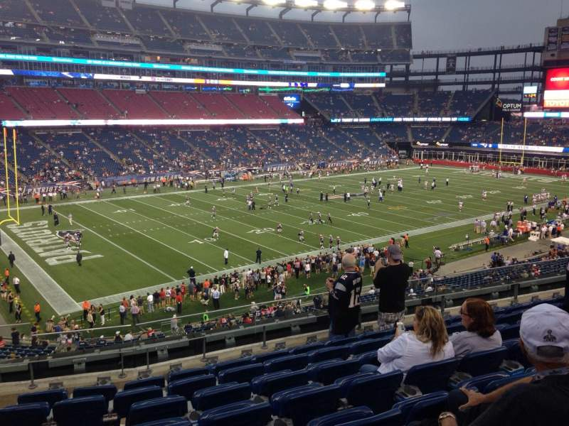 Seating view for Gillette Stadium Section 236 Row 8 Seat 22