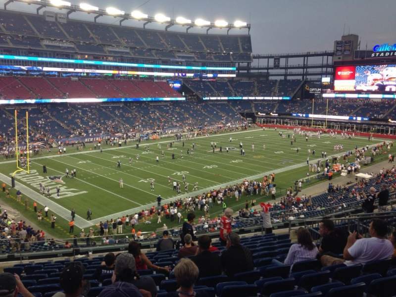 Seating view for Gillette Stadium Section 237 Row 14 Seat 14