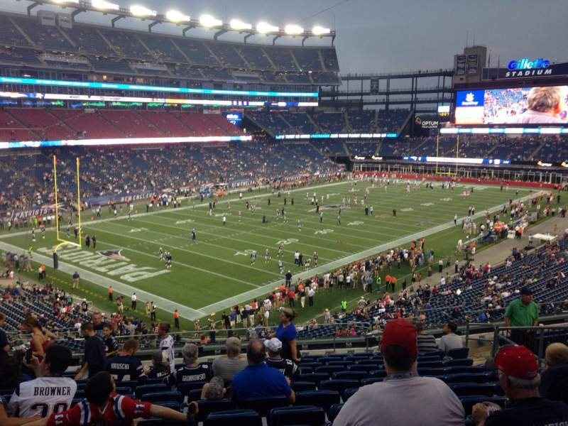 Seating view for Gillette Stadium Section 238 Row 13 Seat 13