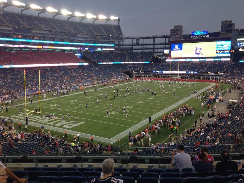 Seating view for Gillette Stadium Section 239 Row 9 Seat 12