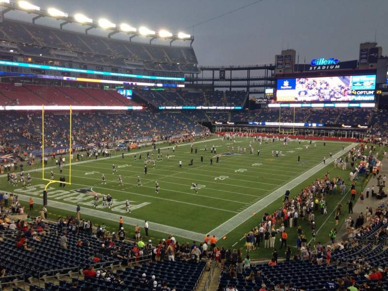 Seating view for Gillette Stadium Section 240 Row 1 Seat 1