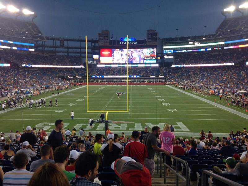 Seating view for Gillette Stadium Section 143 Row 28 Seat 1
