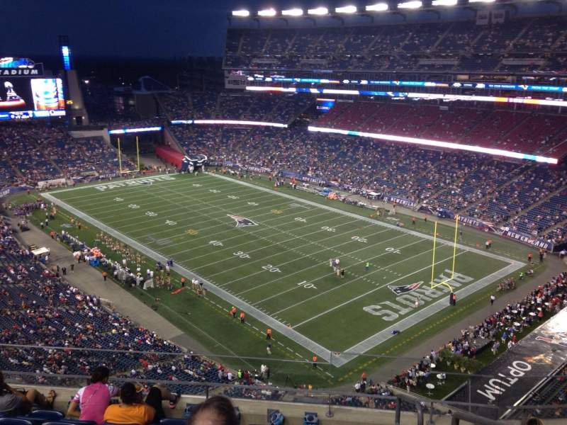 Seating view for Gillette Stadium Section 323 Row 7 Seat 1