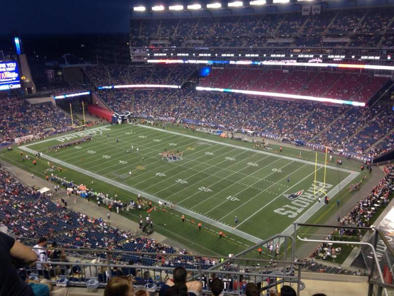 Seating view for Gillette Stadium Section 325 Row 13 Seat 2