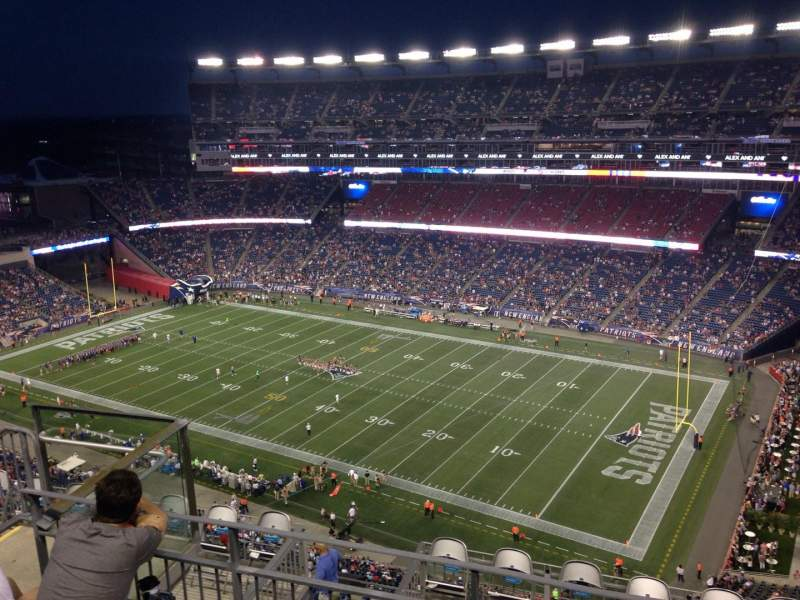 Seating view for Gillette Stadium Section 326 Row 11 Seat 15