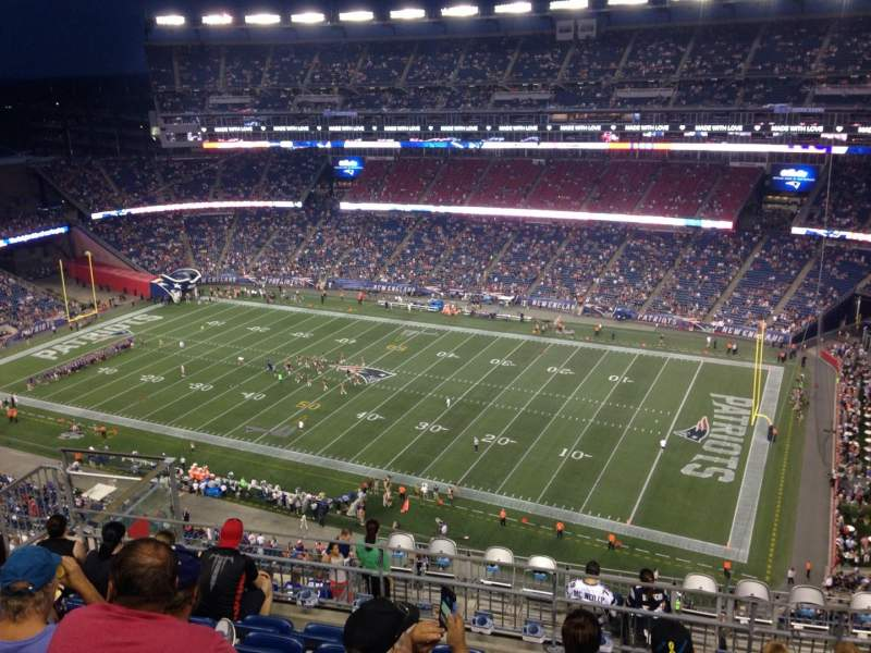 Seating view for Gillette Stadium Section 327 Row 14 Seat 14
