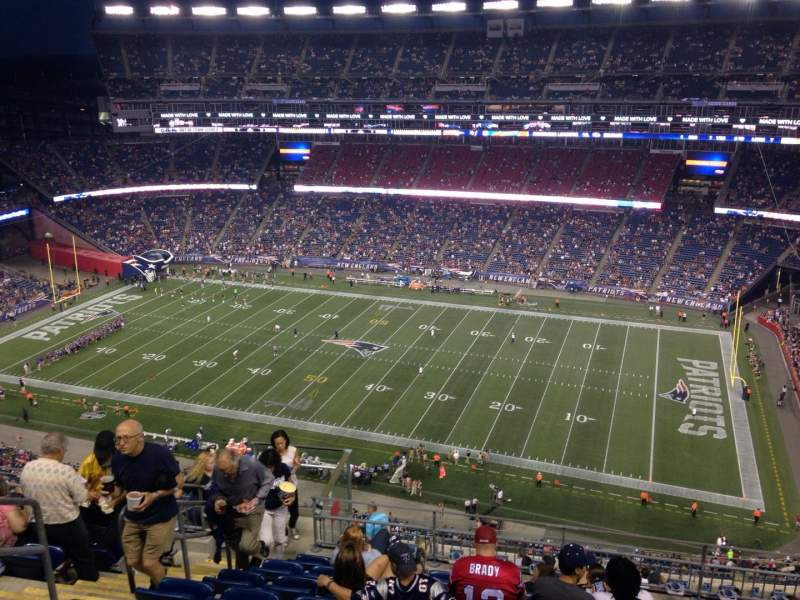 Seating view for Gillette Stadium Section 328 Row 16 Seat 20